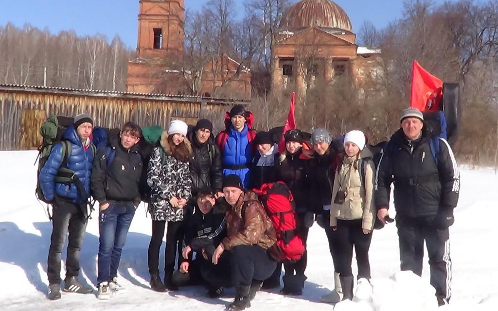 Поход школьников села Столыпино
